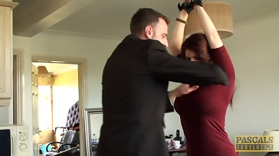 Redhead with gigantic boobs and the BDSM escapade she won't leave behind