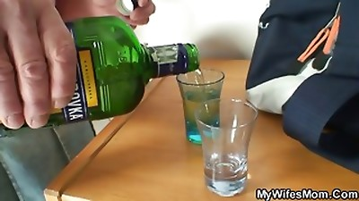 She fucks her son in law after duo of drinks