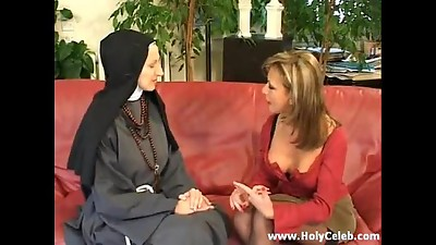 Fisting the Nun Insatiable and Stiff