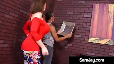 PAWG Milf Sara Jay Fucks Big Ebony Handyman's Cock!
