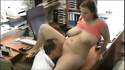 Fucking my Obese Overweight Assistant at the office