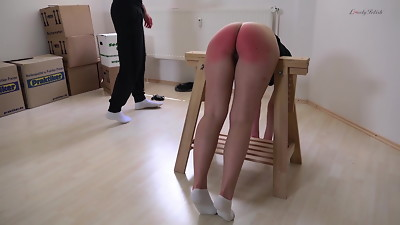 Clip 84Lar -Lara Spanked OTK and Caning - 30:26min, Sale:$18