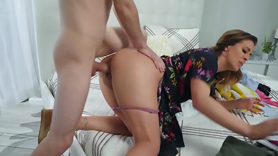 Gorgeously red-hot mummy gets nailed by bothersome stepson