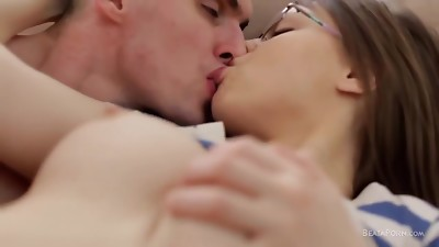 Sexy Girl with Glasses Getting Fucked Hard