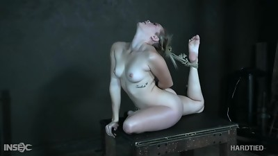 Tied up Katie Kush - flexi babe with perky tits in tortured in restrain bondage vid